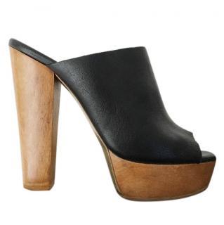 Stella McCartney Wooden Platform Mules