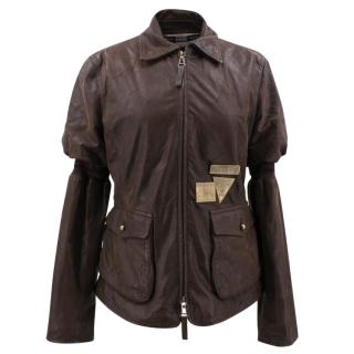 Gianfranco Ferre Brown Leather Jacket
