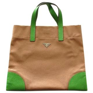 Prada Beige Shopper Bag