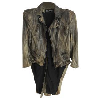 Balmain Vetements Leather Jacket