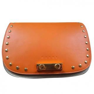 Marni Colour Block Mini Trunk Clutch Bag