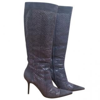 Dolce Gabbana snake skin boots