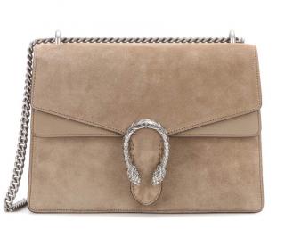 Gucci Dionysis Bag Suede Taupe Medium