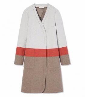 Tory Burch Striped tweed coat