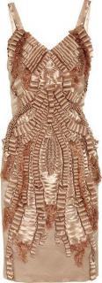 Alberta Ferretti silk ribbon dress