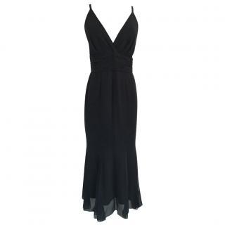 Chanel black silk evening dress