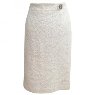 ROBERTO CAVALLI cream pencil skirt