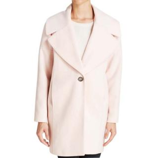 Calvin Klein Blush Pink Cocoon Coat