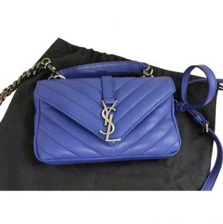 Yves Saint Laurent Blue Mini Crossbody