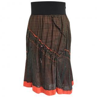 Alexander McQueen gypsy style skirt