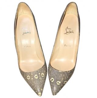 Christian Louboutin lizard skin pigalle heels