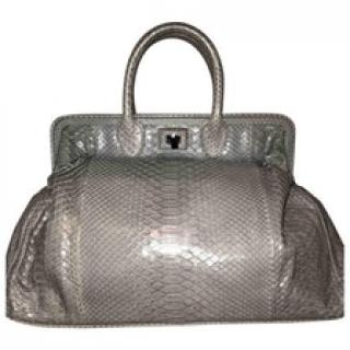 Zagliani Python Grey Bag