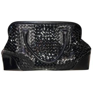 Bottega Veneta Black Mixed Leather Bag
