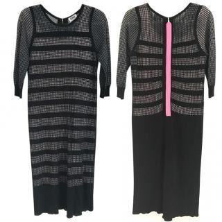 Sonia By Sonia Rykiel Black Mesh Dress