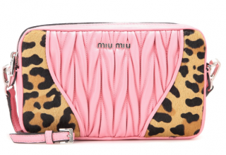 Miu Miu pink matelasse camera Crossbody bag