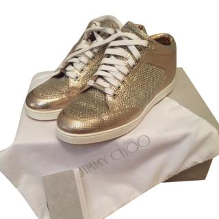 Jimmy Choo Rose Gold Miami Trainers
