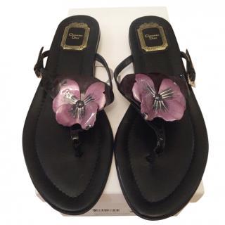 Christian Dior Floral Detail Sandals