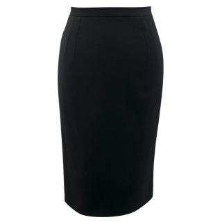 Dolce & Gabbana Black Wool Pencil Skirt