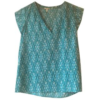 Joie turquoise silk top