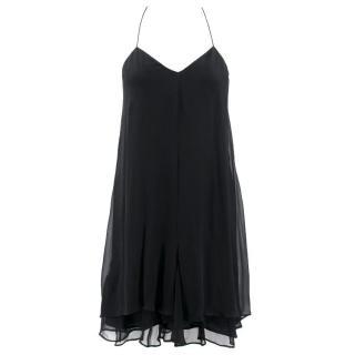 Theyskens' Theory Black Silk Dress