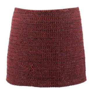 Alice+Olivia Elana Metallic Tweed Skirt