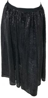 Michael Michael Kors Black Sequin Skirt.