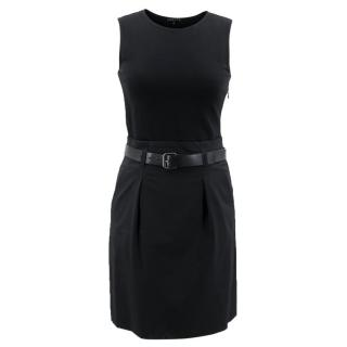 Theory Black Belted Dress