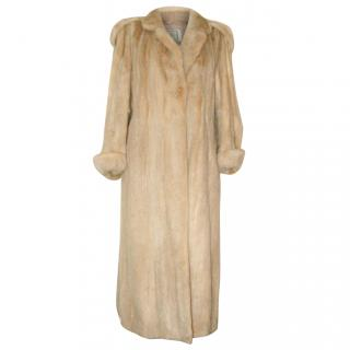 SAGA blonde mink vintage coat