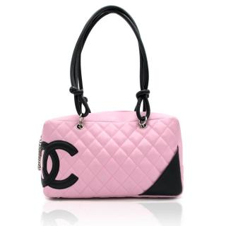 Chanel Pink Quilted Leather Cambon Bag