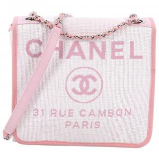 Chanel Deauville Messenger Bag Canvas