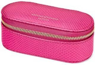 Aspinal Pink Leather Lipstick Case
