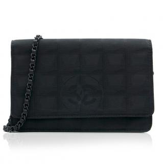 Chanel Black Satin Wallet On Chain