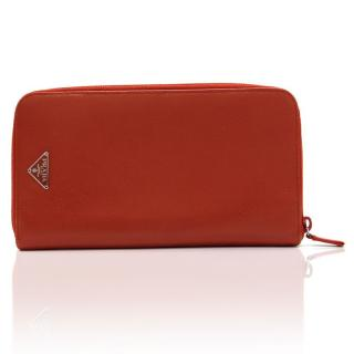 Prada Large Red Saffiano Leather Purse