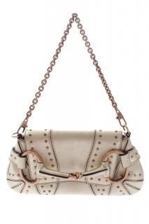 Gucci Horsebit Metallic Studded Leather Clutch Bag