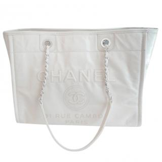Chanel Leather Off-White Deauville Bag