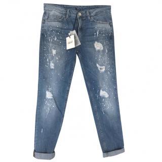 Liujo Bottoms Up Boyfriend Cut Jeans