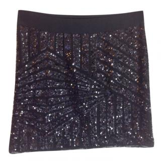 Bcbg Max Azria black sequins skirt