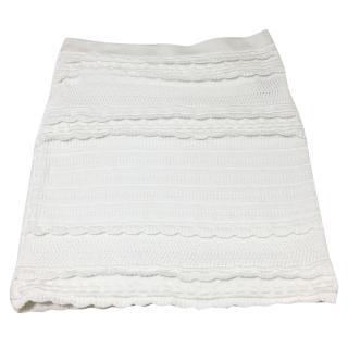 Isabel Marant Etoile White Cotton Skirt.