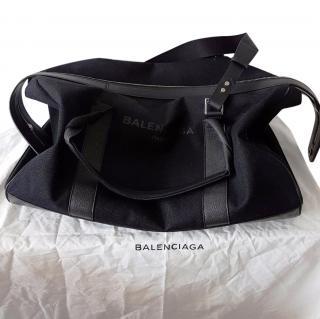 Balenciaga Canvas Gym Bag (Navy Weekender)