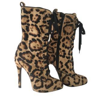 Giambattista Valli Printed Ponyhair Boots