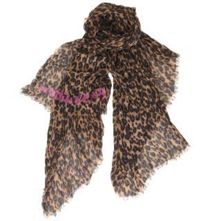 Louis Vuitton Leopard Cashmere Stole