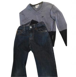 Armani Jeans and Jumper Set
