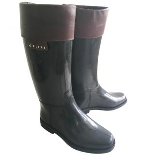 CELINE  wellington boots.