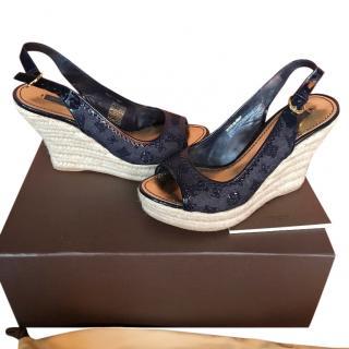 Louis Vuitton wedged sandals