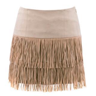 Patrizia Pepe Fringe Mini Skirt