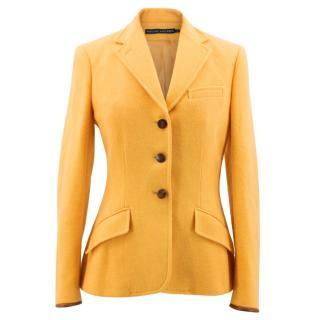 Ralph Lauren Yellow Wool Blazer