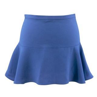 Joseph Danielle Flared Blue Mini Skirt