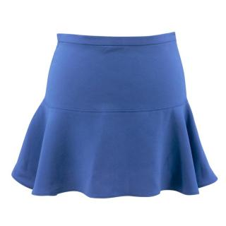 Joseph Danielle Flared Blue Mini Skirt