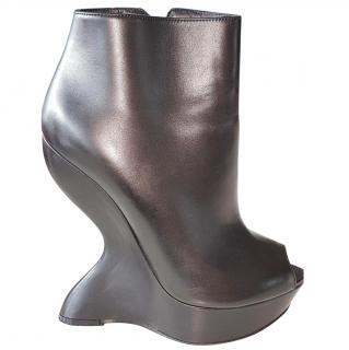 Alexander McQueen Black Runway Boots