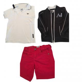 Armani Junior Set of Trousers, Polo, and Jacket